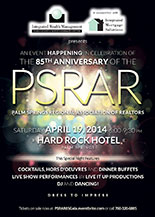Event Poster for PSRAR's 85th Anniversary Gala Celebration