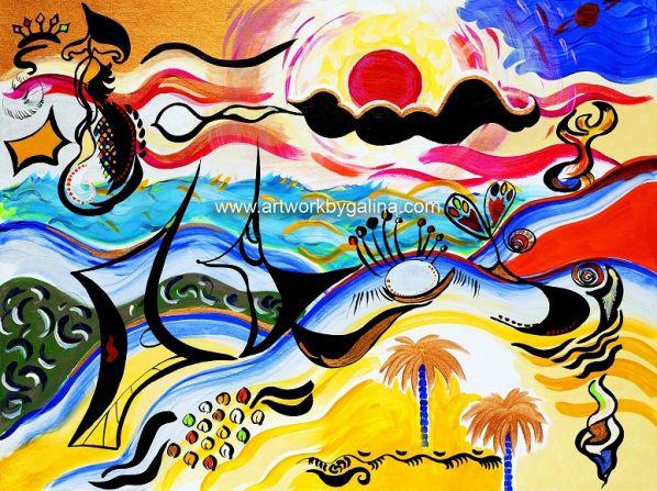 Puerto Rico - painting by Galina