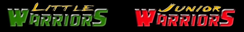 Young Warriors text logo