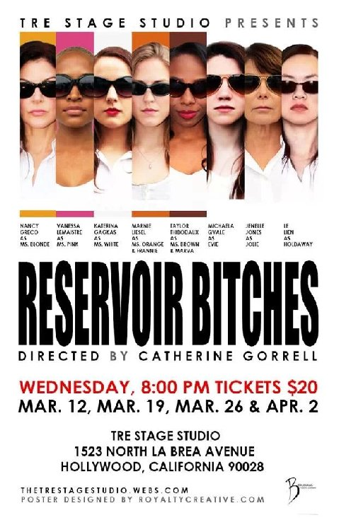 Reservoir Bitches Play Premiers at Tre Stage Studio in Los Angeles