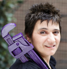 Hattie Hasan. Founder - Stopcocks Women Plumbers