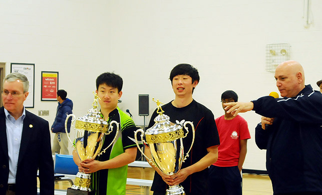 L to R: Ed Yerhal, Eugene Wang, Kewei Li, Mike Babuin
