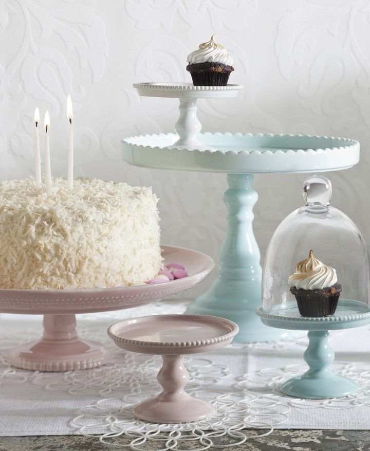 Blue Porcelain Cake Stand