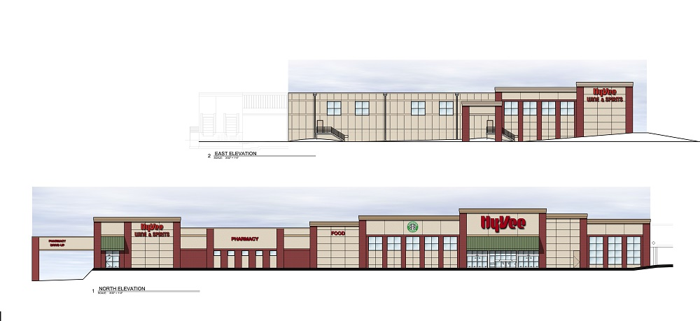 An artist's rendering of the Hy-Vee remodel and expansion.