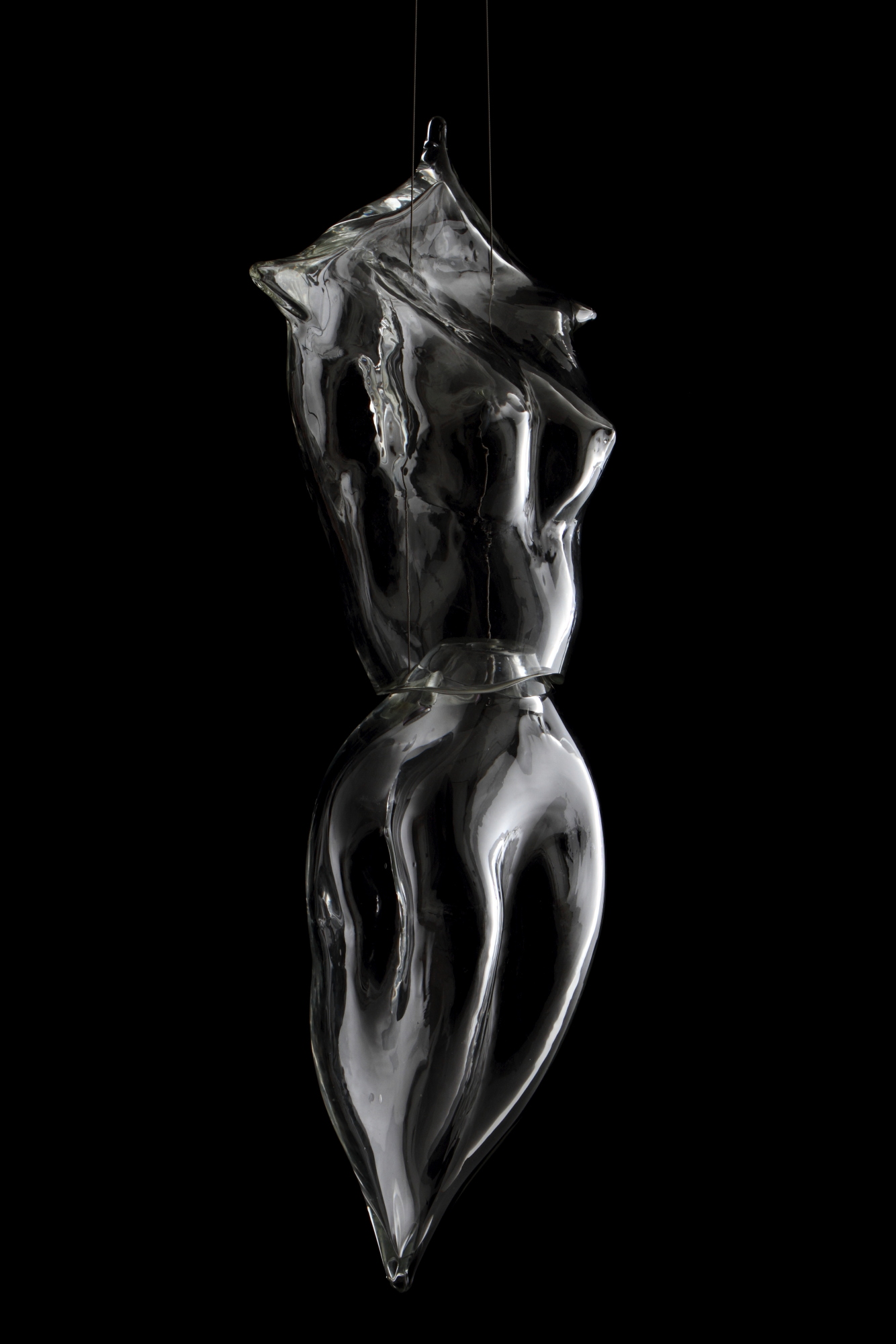 "Sculpted and assembled, glass female figure. H36""xW16""xD10"". Photo EdKiley"