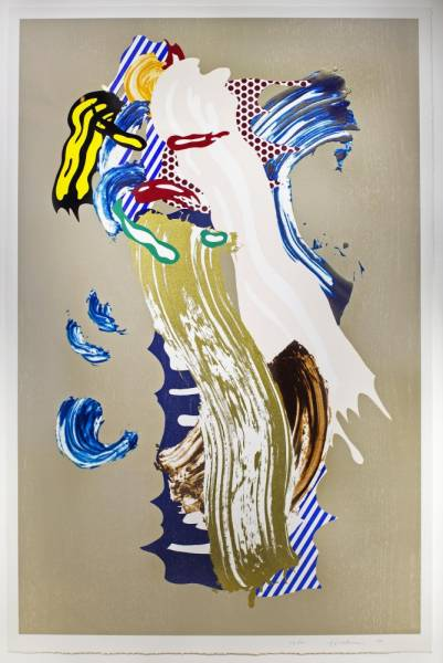This color lithograph by Roy Lichtenstein, titled Blonde, will be sold March 30.