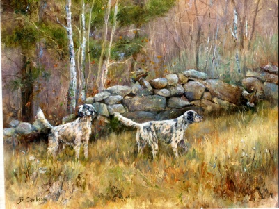 Beth Carlson, 'Upland Setters' , Oil-on-Canvas