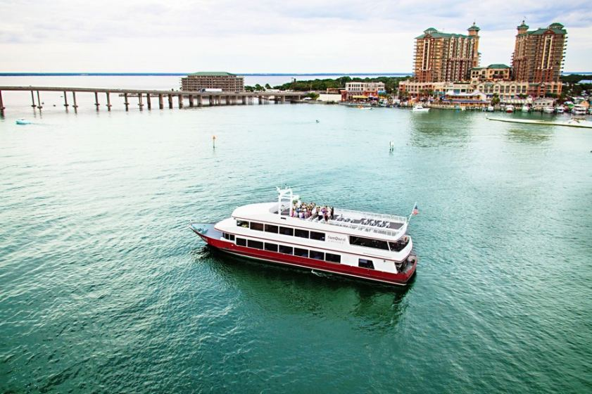 Cruise through Destin Florida weddings on the SOLARIS yacht.
