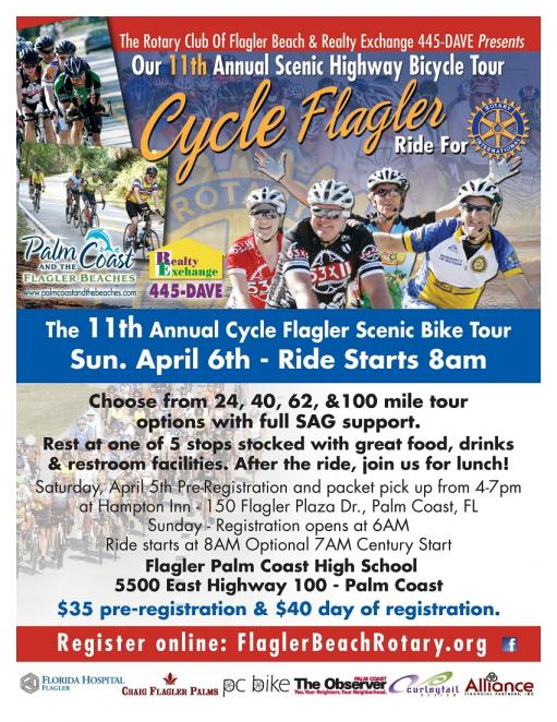 2014 Cycle Flagler is coming to Palm Coast April 6th.