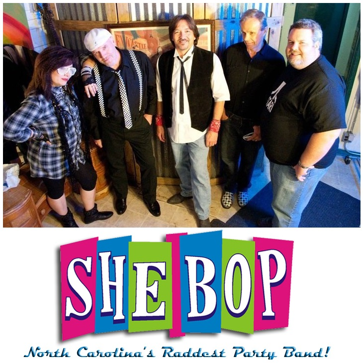 Sunday April 27 at 4 p.m.- SHE BOP 80s Party Band  @ The Pittsboro Roadhouse