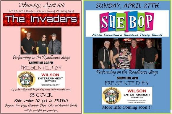 Sunday Band Series at the Pittsboro Roadhouse / Wilson Entertainment Services