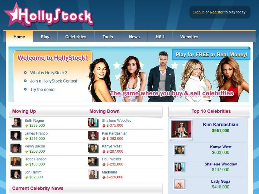 HollyStock.com Celebrity Game