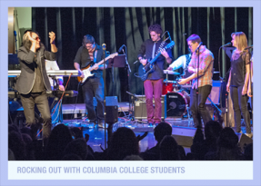Founder Todd Rundgren w/Students at Columbia College