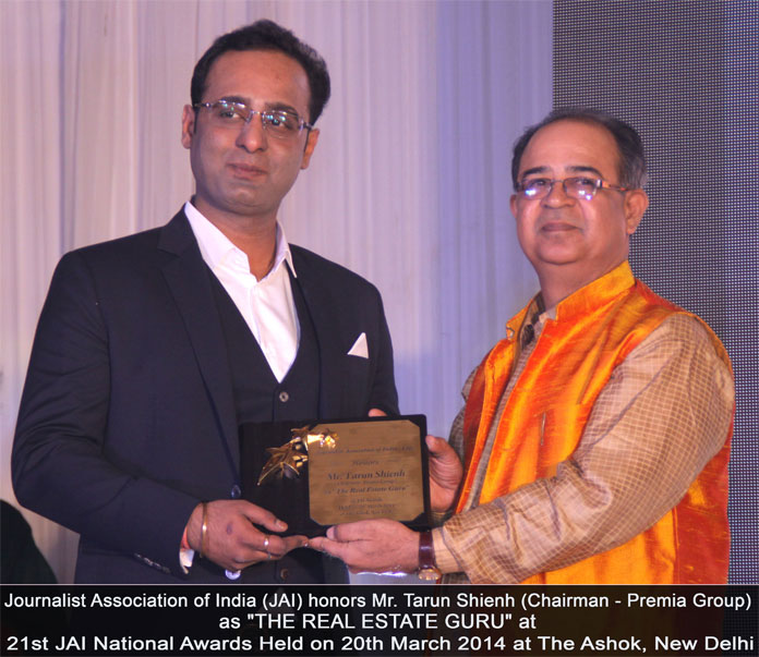Journalist Association Of India honors Mr. Tarun Shienh as The Real Estate Guru