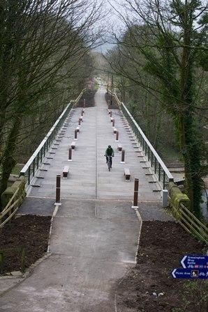 The finished reopened bridge