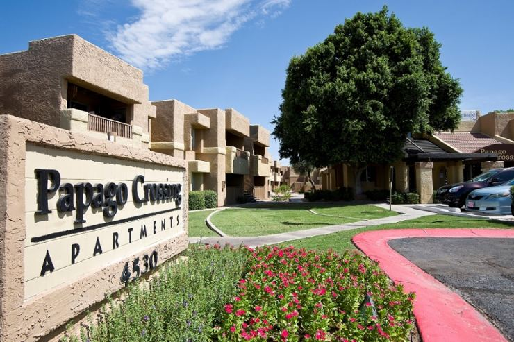 The L.A. based firm recently acquired the 180-unit Papago Crossing complex.