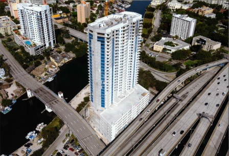 Flagler on the River Construction Aerial