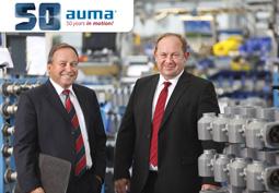 AUMA's Managing Directors Matthias Dinse and Henrik Newerla celebrate 50 years