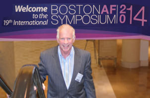 Steve S. Ryan, PhD with 2014 BAFS banner.