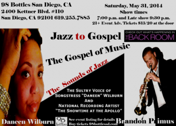 Jazz to Gospel Concert San Diego, CA