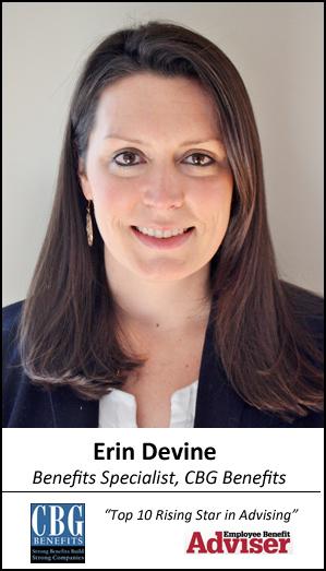 Erin Devine of CBG Benefits: Top 10 Rising Star in Advising