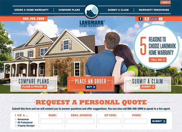 Landmark Home Warranty Website Launch