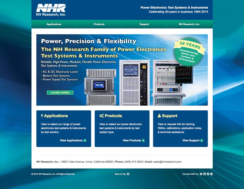 NH Research, Inc's new website