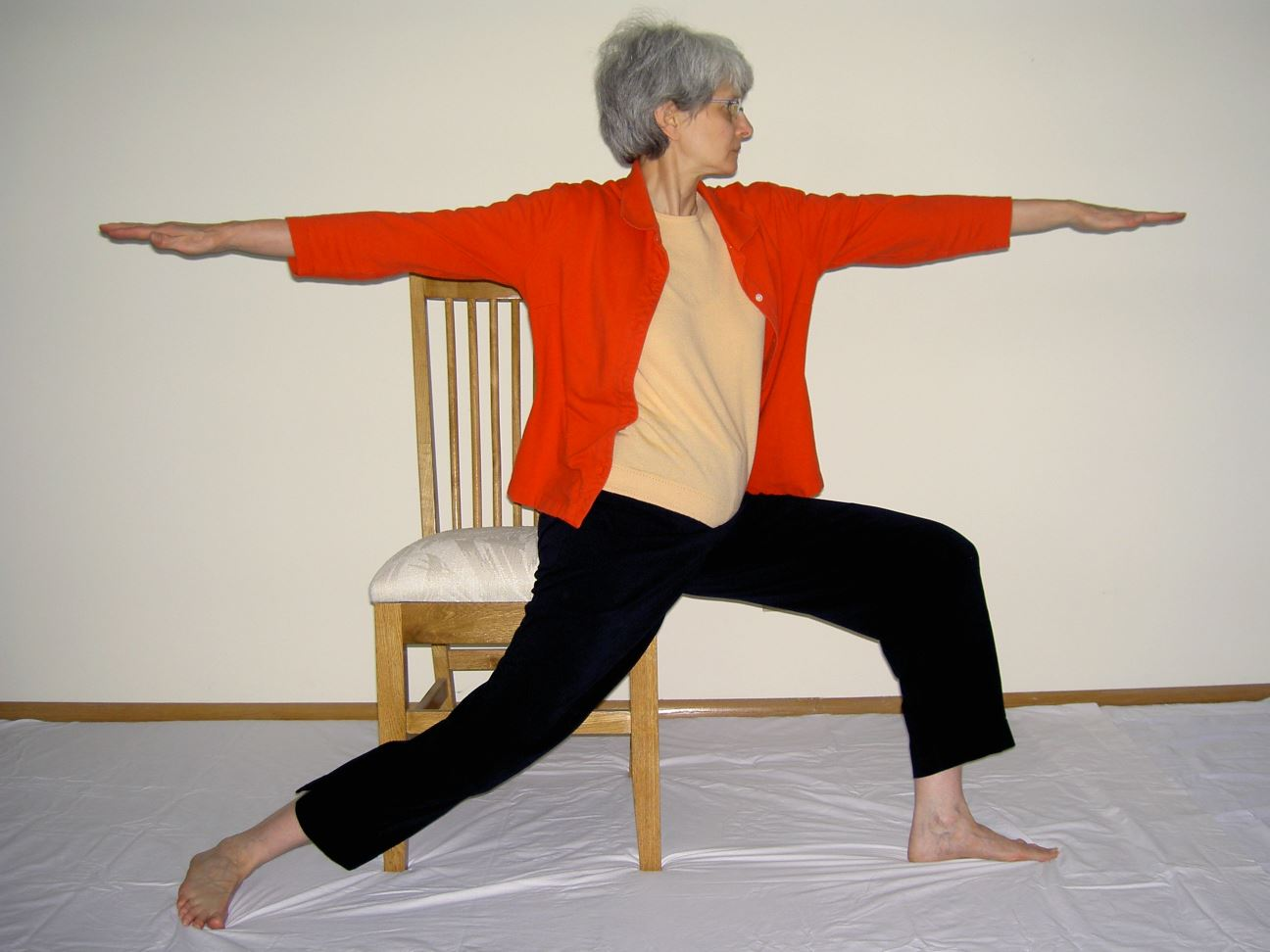 Mary Tellers Seated Warrior Pose