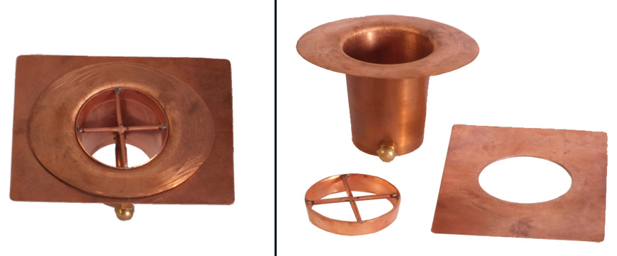 Monarch rain chains pure copper 3 piece gutter ...