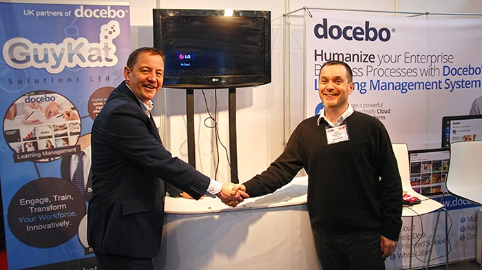 Guy McEvoy (left), of GuyKat, and Claudio Erba of Docebo.