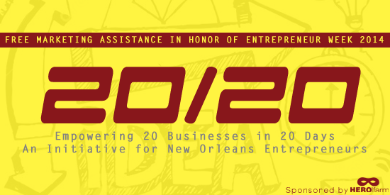 New initiative aims to empower 20 New Orleans area businesses in 20 days.