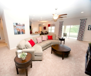 Sneak peek of the new model home at Hills of Arietta.
