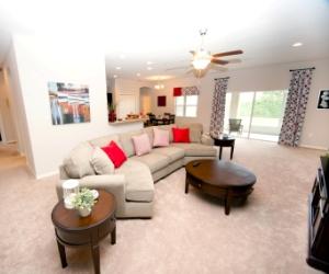 Sneak peek of the new model home at Hills of Arietta.