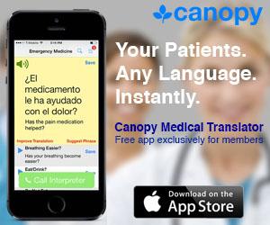 Canopy Medical Translator App - Free for AAEM & AAEM/RSA Members