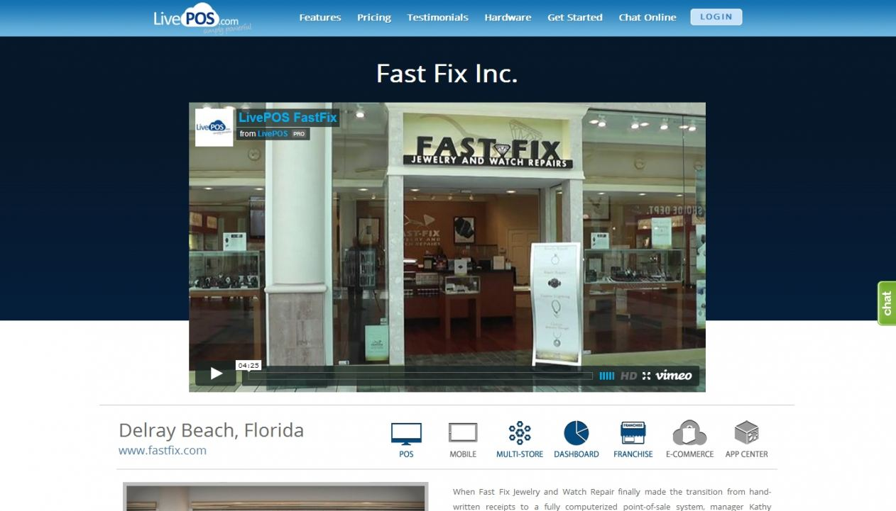 Fast Fix Jewelry Selects LivePOS