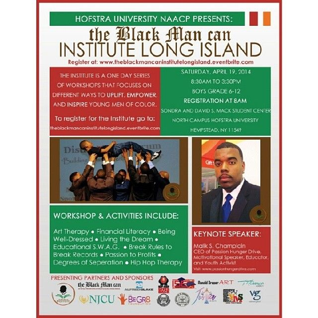 Hofstra University NAACP welcome The BlackManCan