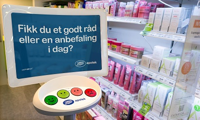 HappyOrNot in Boots Pharmacy - Northern Europe