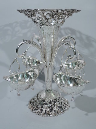 bailey banks & biddle sterling silver vase epergne
