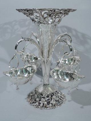 bailey banks & biddle sterling silver vase epergne