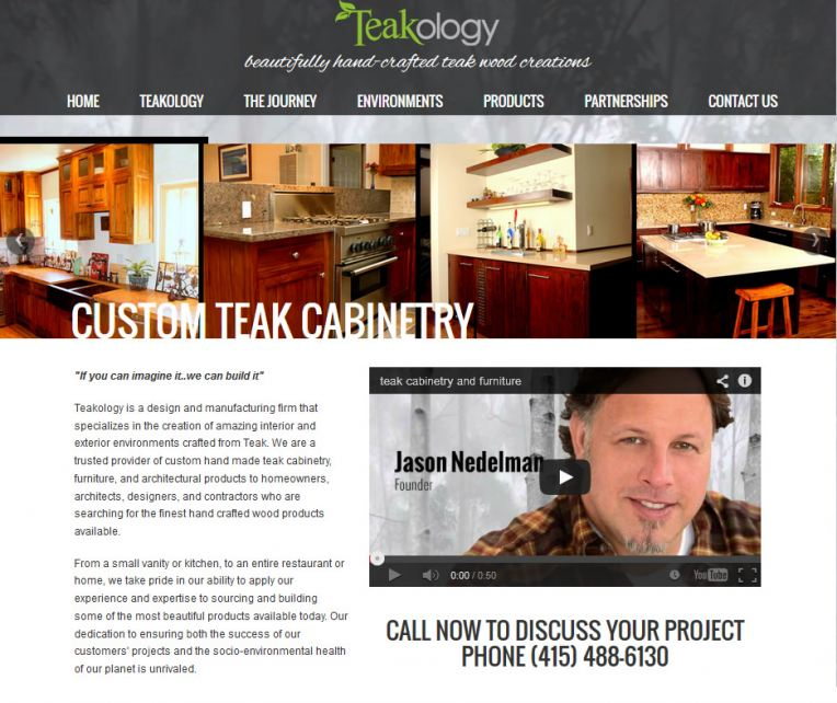 Custom Teak Cabinetry and Woodwork