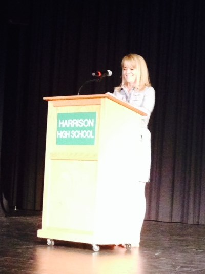 Book writing event at Harrison High School
