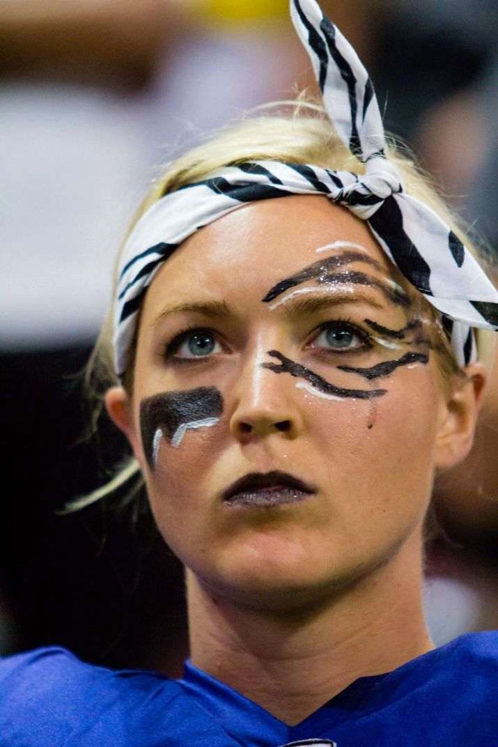 Dr. Allison Alberts, with her game face on.