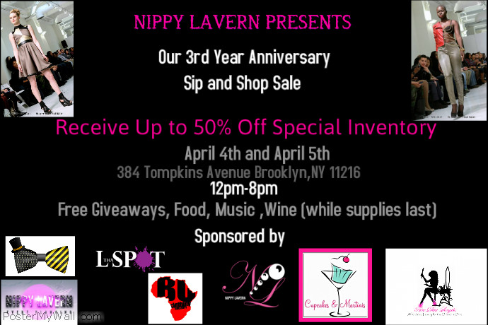 Nippy Lavern 3rd Year Anniversary Sale