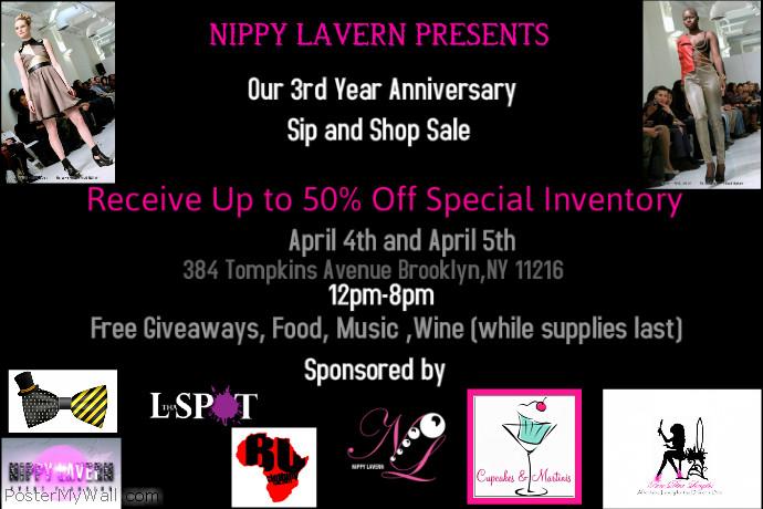 Nippy Lavern 3rd Year Anniversary Sale