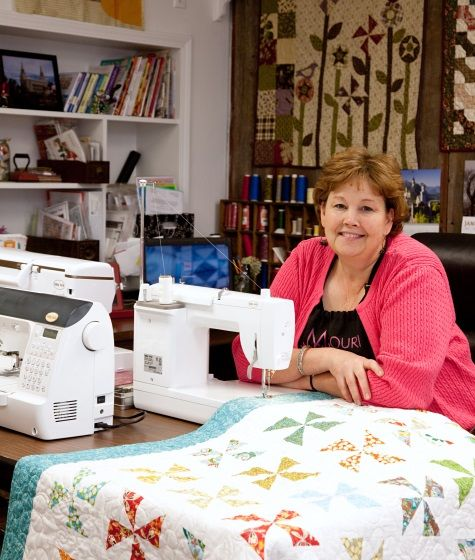 Missouri quilting star Jenny Doan coming to Cut Up and Sew April 17th.