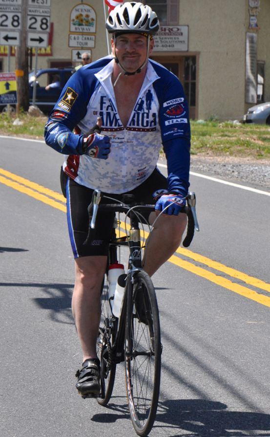Veteran Glenn Goulet at the 2013 Face of America ride. Photo by Van Brinson.