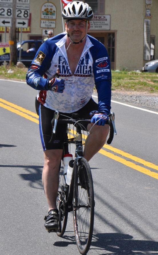 Veteran Glenn Goulet at the 2013 Face of America ride. Photo by Van Brinson.