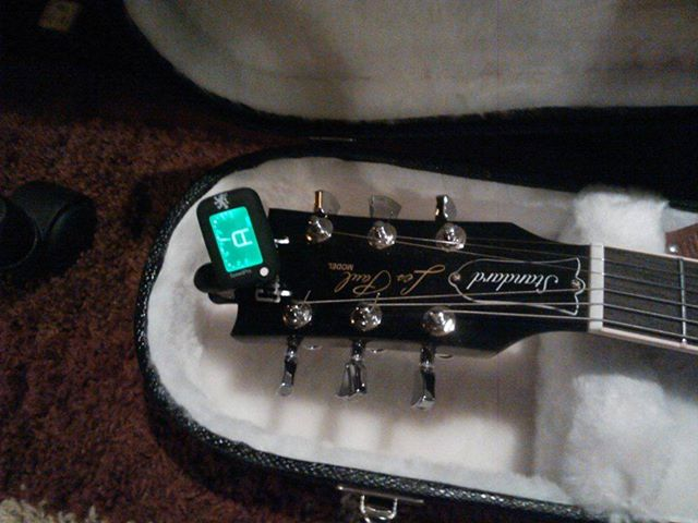 SpeedPro guitar tuner in guitar case