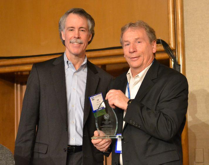 Jim Walsh Receiving Award on Behalf of Bob Stearns
