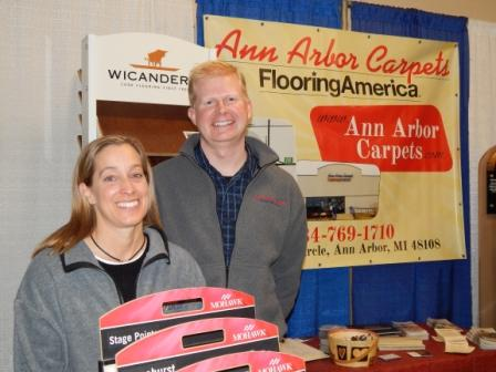 Ann Arbor Carpets Jenny and Steve at the Home, Garden & Lifestyle Show